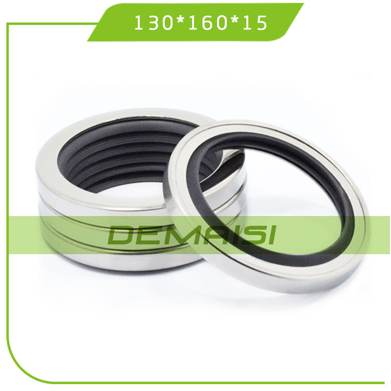 130*160*15 PTFE Oil Seal with Stainless Steel